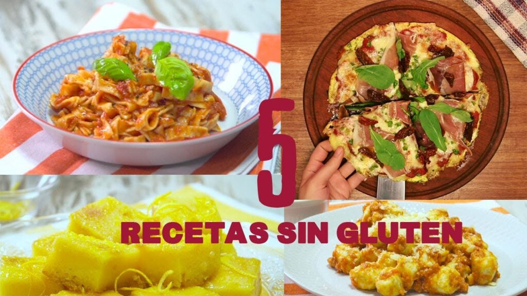 5 RECETAS #SinGluten #SinTACC PARA CELÍACOS