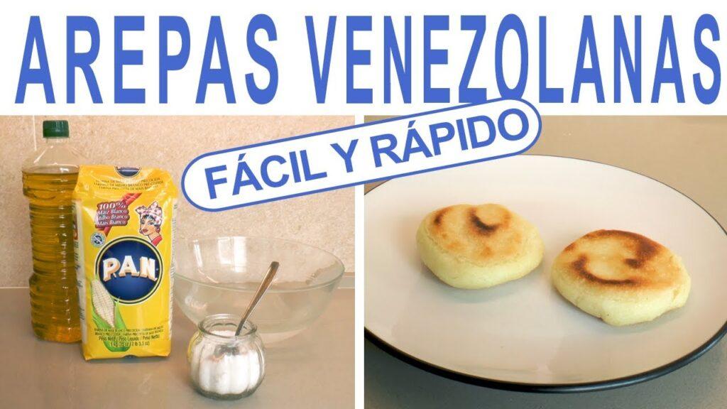 AREPAS VENEZOLANAS ❤️ RECETA FÁCIL Y RÁPIDA ✔️ SIN GLUTEN Y SIN LACTOSA