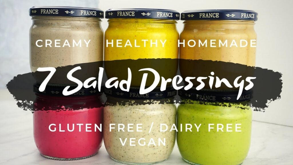 7 Creamy Homemade Salad Dressing Recipes (Dairy Free Gluten Free Vegan)