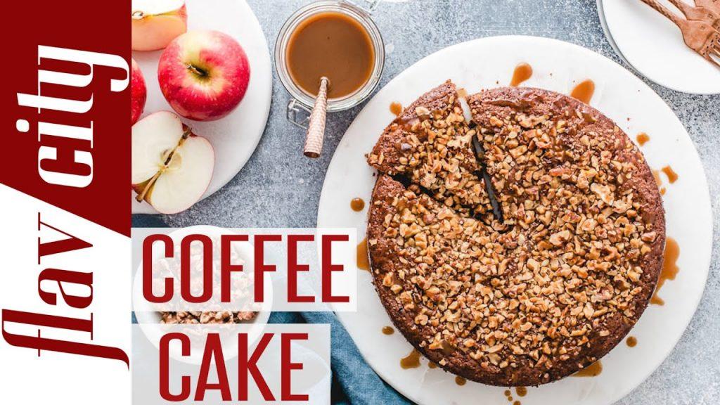 Gooey Coffee Cake Recipe w/ Caramel Sauce – Gluten Free & Paleo Cake Recipe