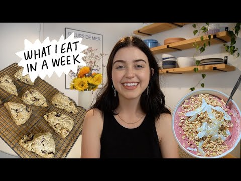 what I eat in a week! featuring gluten free baked goods